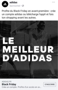 Publicité payante & facebook ads Adidas - agence webmarketing k4tegori
