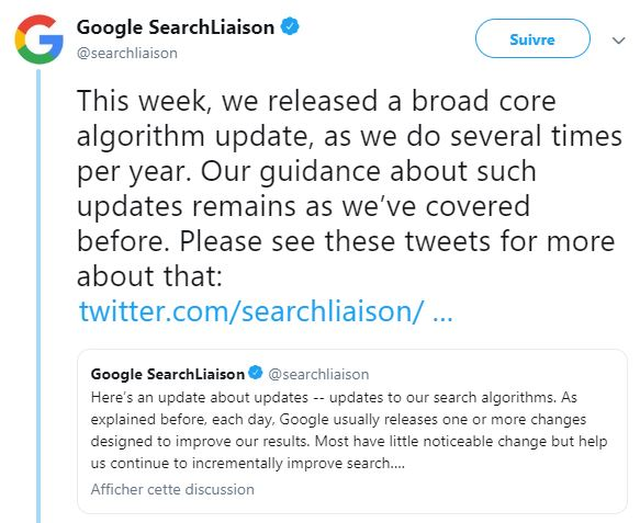 Google march 2019 core update - agence webmarketing k4tegori