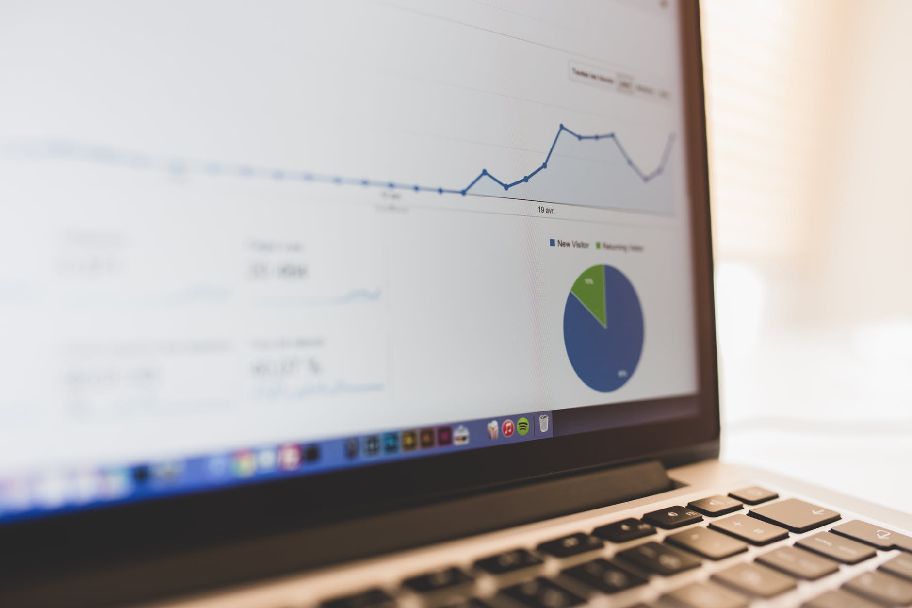 Graphique web analytics - agence web k4tegori